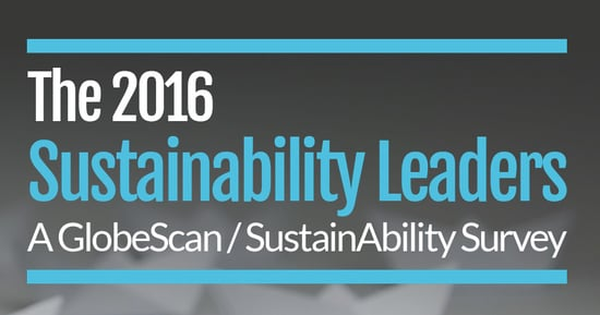 2016 Sustainability Leaders Award
